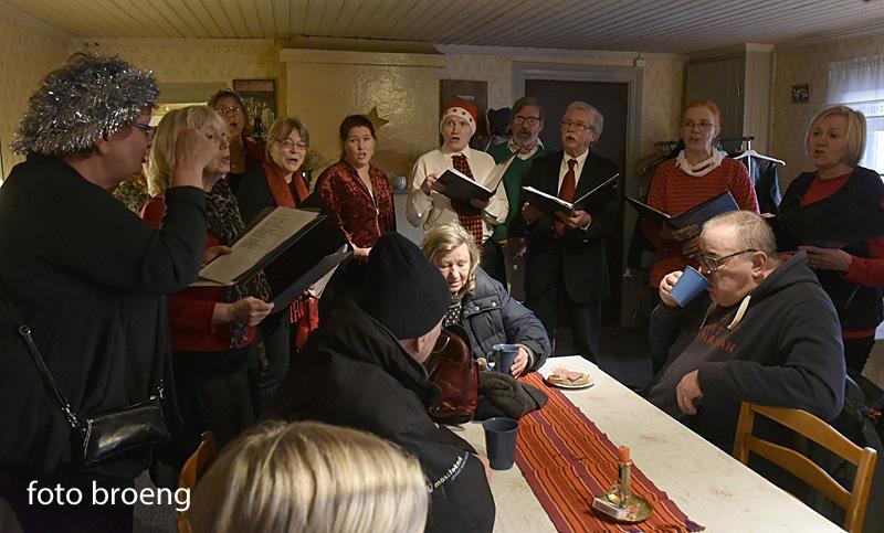 Julsånger på Bergholmstorpet december 2016. Foto: Tommy Broeng